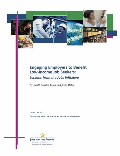 Aecf Engaging Employers Benefit Low Income Job Seekers cover