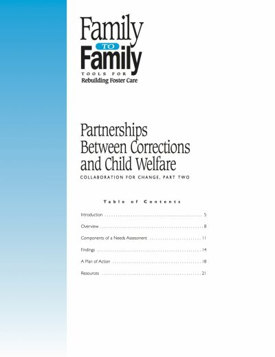 Aecf F2 F Partnerships Between Correctionsand Child Welfare Collaborationfor Change Part Two cover