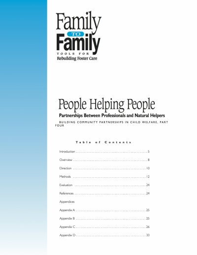 Aecf F2 F People Helping People Partnerships Between Professionalsand Natural Helpers cover