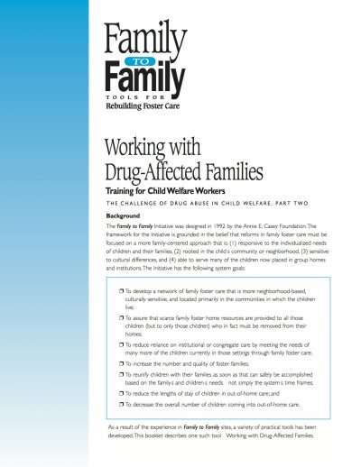 Aecf F2 F Working With Drug Affected Families cover