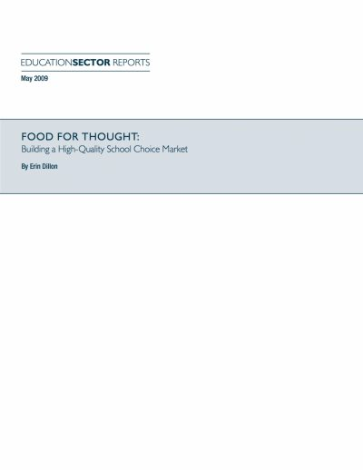 Aecf Food Thought Building High Quality School Choice Market cover