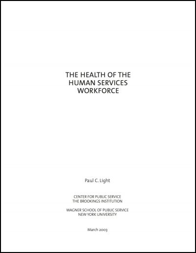 Aecf Health Human Services Workforce cover