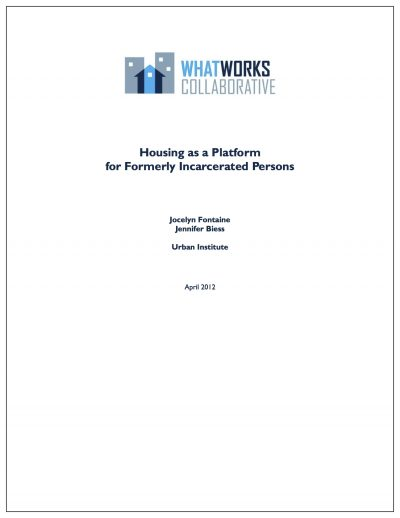Aecf Housingas Platformfor Formerly Incarcerated Persons Cover1