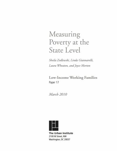 Aecf Measuring Poverty State Level Low Income Families cover