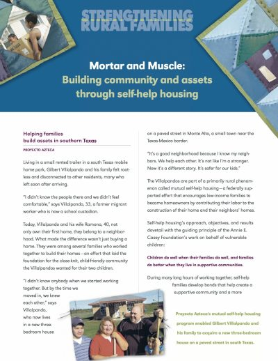 Aecf Mortar And Muscle Building Community And Assets Through Self Help Housing cover