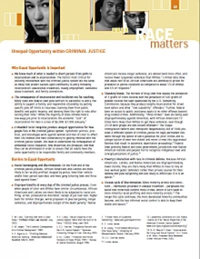 Aecf RACEMATTERS Criminal Justice cover