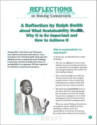 Aecf Reflectionsof Ralh Smith Sustainability 2008