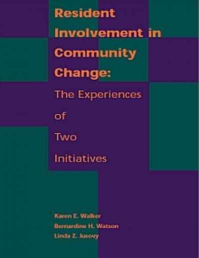 Aecf Resident Involvementin Community Change cover