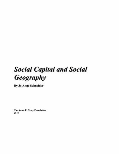 Aecf Social Capital Social Geography cover