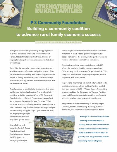 Aecf Strengthening Rural Families P3 Community Foundation cover