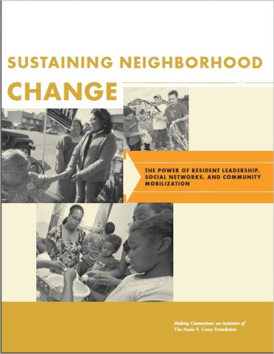 Aecf Sustaining Neighborhood Change cover