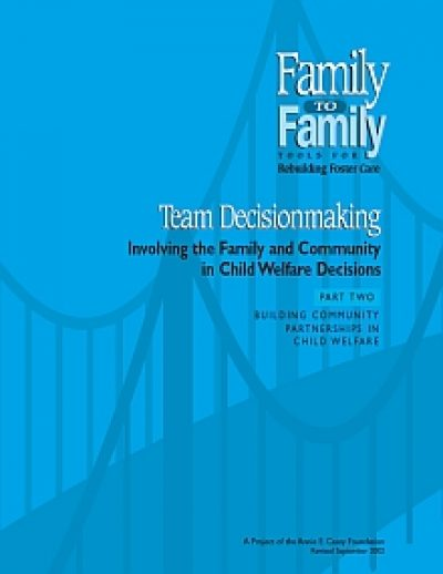 Aecf Team Decisionmaking Involving Families F2 F cover