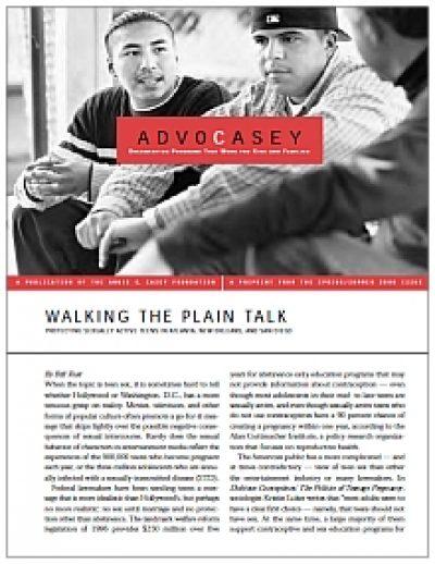 Aecf Walkingthe Plian Talk Advocacy Reprint cover 2