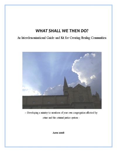 Aecf What Shall We Then Do Interdenominational Guide cover