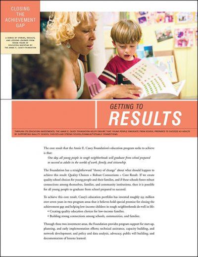 Aecf closingtheachievementgap Results 2008 pdf 1