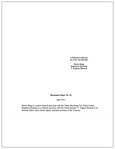 Aecf referencemanualchildtaxcredit Cover1