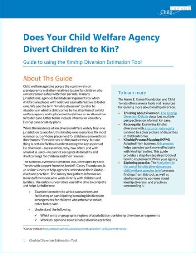 Does Your Child Welfare Agency Divert Children to Kin?