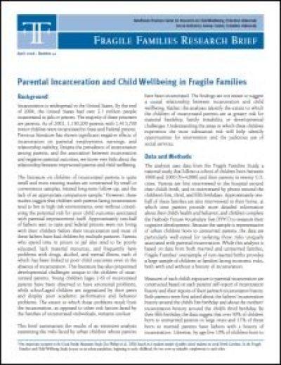 Crcwpu parentalincarcerationandchildwellbeing cover pdf