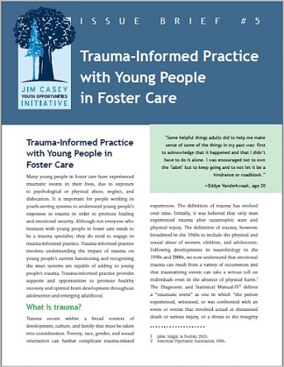 Jcyoi Issue Brief5 Trauma Informed Practice cover