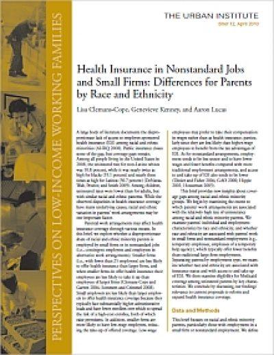 Urban Health Insurance Nonstandard Jobs cover