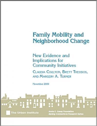 Urban familymobilityandneighborhoodchange cover